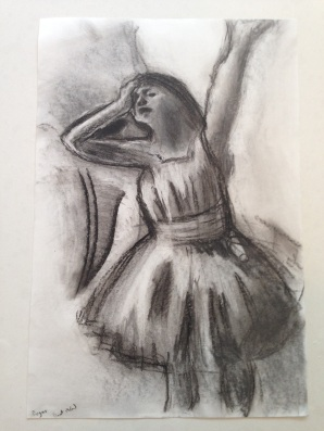 Done as a masterwork copy of a sketch by Degas